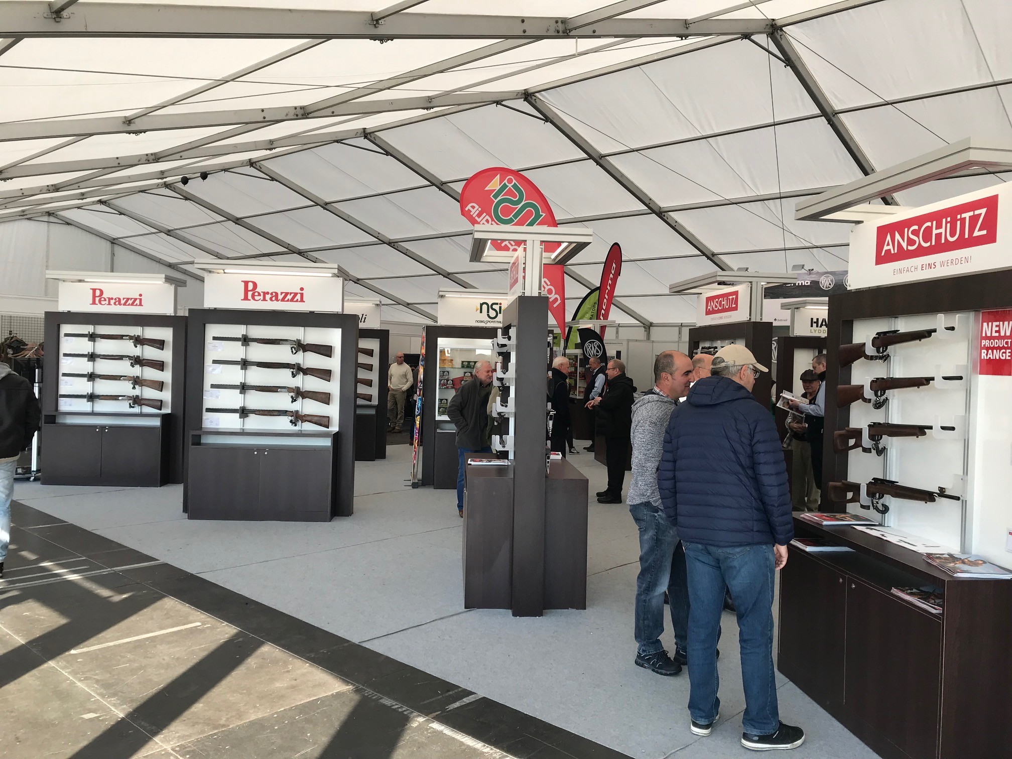 Northern Shooting Show from the Perazzi trade stand