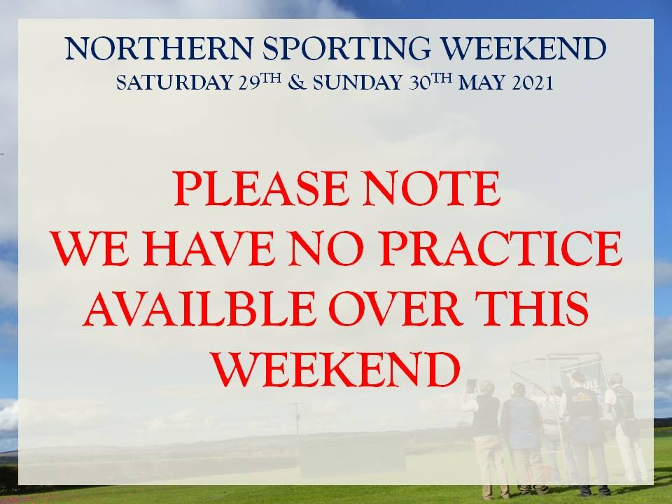 No Practice Available 29th & 30th May