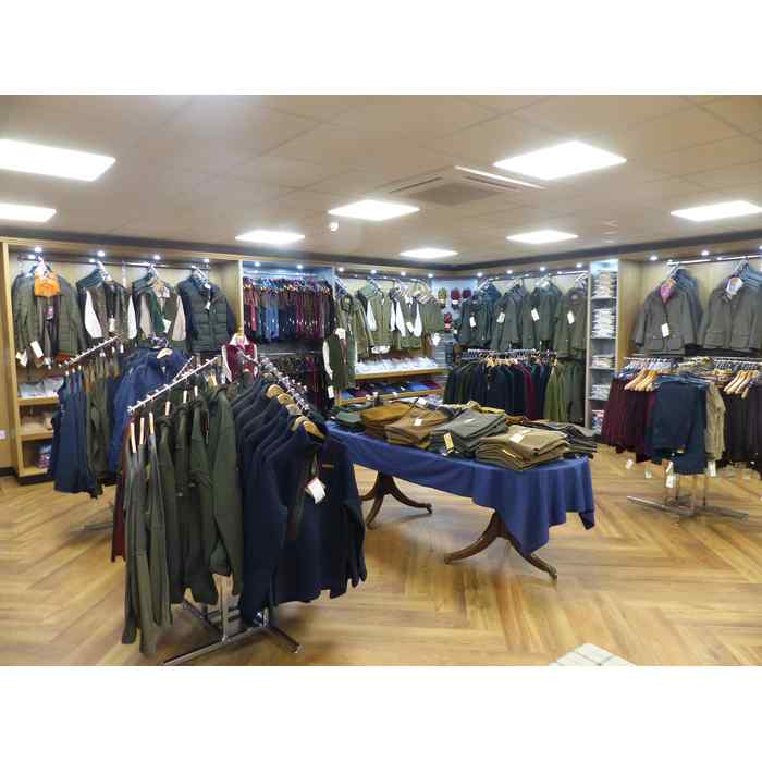 The new area is very spacious giving plenty room to display our vast choice of clothing.