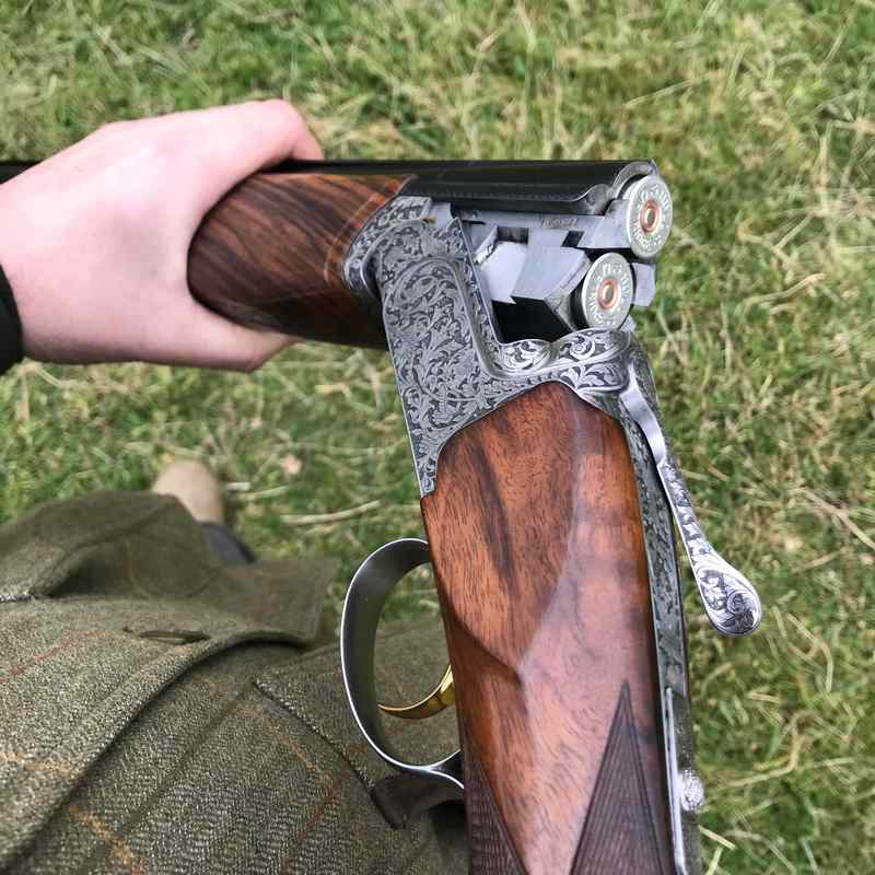 "The Perazzi MX8 SCO is John's ""go to"" high pheasant gun."